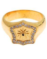 Nialaya Gold Plated 925 Sterling Silver Ring - Metallic