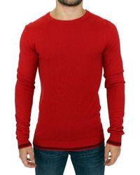 CoSTUME NATIONAL Crewneck Wool Jumper - Red Crewneck Pullover