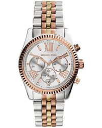 Michael Kors Darci Pink Dial Stainless Steel - Multicolour