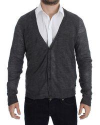 CoSTUME NATIONAL Wool Button Cardigan Jumper - Grey
