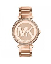 Michael Kors Rose Gold-tone Parker Watches - Metallic