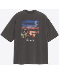 Balenciaga - Paris Short Sleeves T-shirt - Lyst
