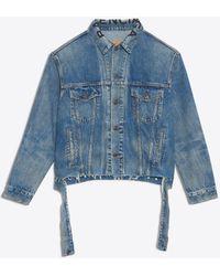 Balenciaga - Cut Waistband Jacket - Lyst