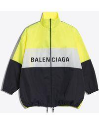 Balenciaga - Chaqueta de Chándal de Nailon con Logotipo - Lyst