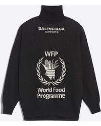 Balenciaga - World Food Programme Turtleneck Jumper - Lyst