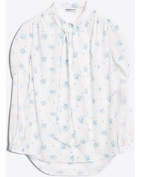 Balenciaga - Twisted Sleeve Blouse - Lyst