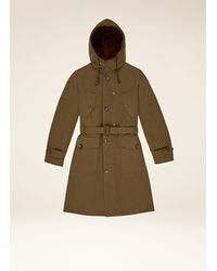 Bally Belted Parka - Green
