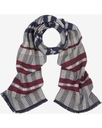 Bally - Wool-cashmere Herringbone Scarf - Lyst