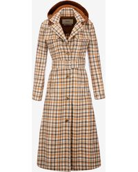 Bally - Laminated Check Trench Coat - Lyst