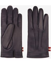 Bally Leather Gloves - Blue