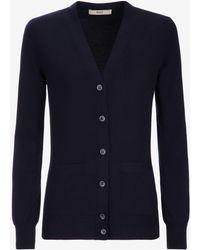 Bally - Merino Wool Buttoned Cardigan - Lyst