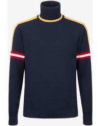 Bally - Intarsia Stripe Sleeve Sweater - Lyst