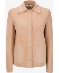 Bally - Cashmere Suede Shirt Jacket - Lyst