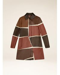 Bally Patchwork Coat - Multicolour