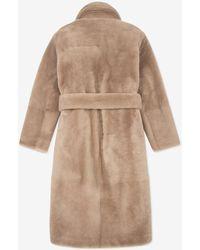 Bally Shearling Coat - Grey