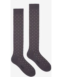 Bally - X Tabio Dotted Long Socks - Lyst