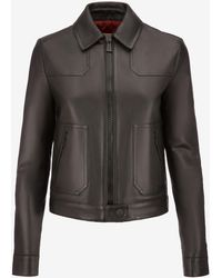 Bally - Leather Blouson Jacket - Lyst