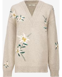 Bally - Edelweiss Embroidered Sweater - Lyst