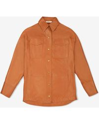 Bally Oversized Leather Shirt - Brown