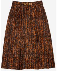 Bally Print Skirt - Black