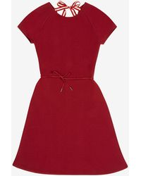 Bally Belted Knit Dress - Red
