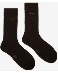 Bally Ribbed Socks - Black