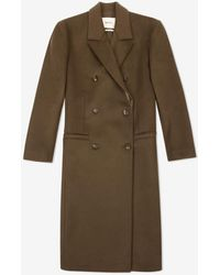 Bally Double Breasted Coat - Green