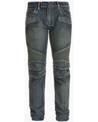 Balmain Regular-fit Stretch Cotton Denim Jeans - Blue