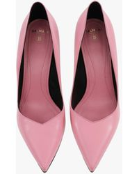 Balmain Leather Ruby Court Shoes - Pink