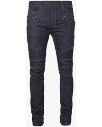 Balmain Slim Fit Jeans aus Raw Denim - Blau
