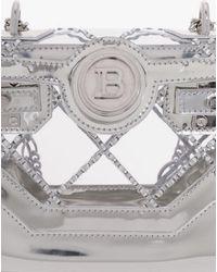 Balmain Transparent And Silver Pvc B-buzz 18 Backpack - Metallic