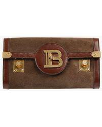 Balmain Suede B-buzz 23 Belt Bag - Brown