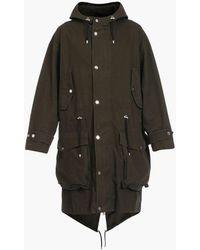 Balmain Cotton Hooded Parka - Black
