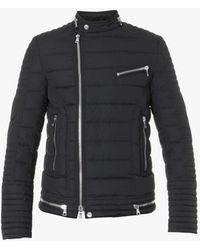 Balmain Down Coat With Zippers - Black