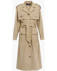 Balmain Trench Coat With Gold-tone Buttons - Natural