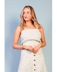 Baloot Clothing Fausta Mint Print Dress - Multicolour