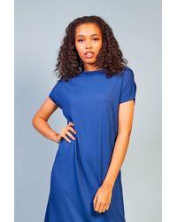 Baloot Clothing Aymelina Cape Sleeve Dress - Blue