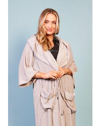 Baloot Clothing Marcella Drawstring Lightweight Coat With Patch Pocket - Multicolour