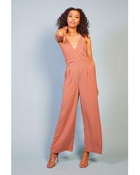 Baloot Clothing Mia V Neck Spaghetti Strap Jumpsuit - Orange