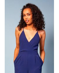 Baloot Clothing Mia V Neck Spaghetti Strap Jumpsuit - Blue