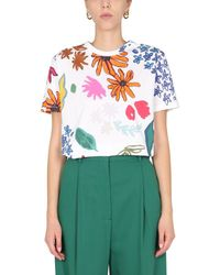 Paul Smith Regular Fit T-shirt With Floral Print - Green