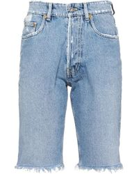 Miu Miu Vintage-denim Bermuda Shorts - Blue