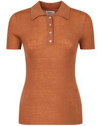 Nanushka Merino Wool Polo - Orange