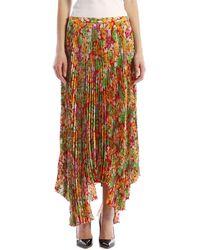 Plan C - Floral Plissè Skirt - Lyst