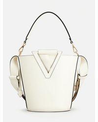 Roger Vivier Rv Bucket Bag Medium Cream - Natural