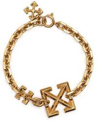 Off-White c/o Virgil Abloh Arrow Motif Embellished Bracelet - Metallic