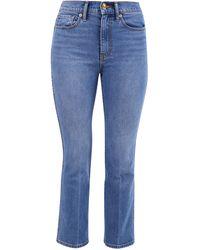 Tory Burch Cropped Denim Jeans - Blue