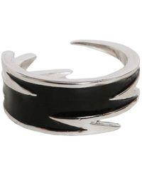 DSquared² Lighting Bolt Motif Rings - Black