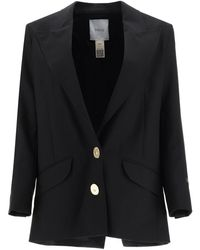 Patou Wool Jacket With Jewel Buttons - Black