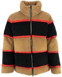 Burberry Bradfield - Color Block Fleece Jacquard Puffer Jacket - Black